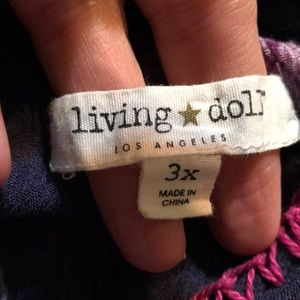 living doll Tops - 3/$20 Living doll Cold shoulder blouse